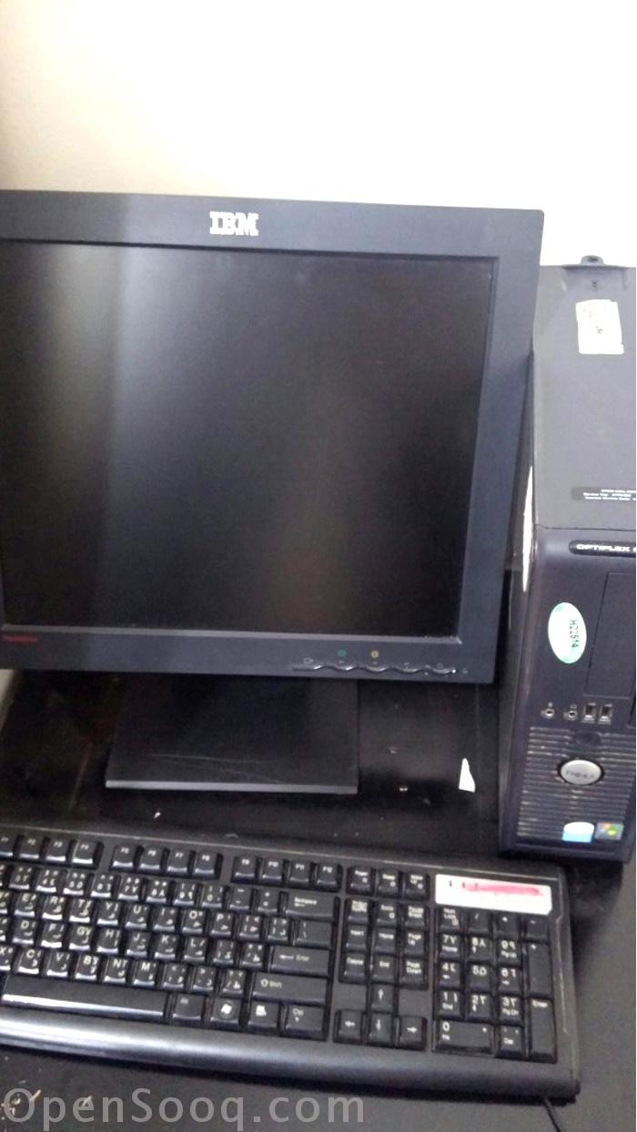 كمبيوتر ديسك توب دل +شاشة اي بي ام + ماوس + كيبورد